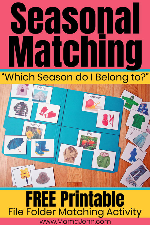 Which Season do I Belong to? Matching Activity