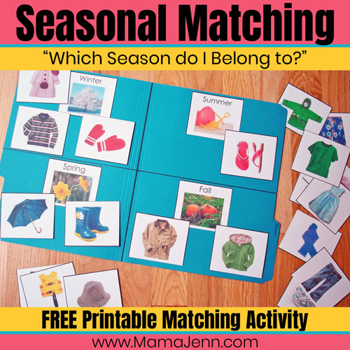 """Which Season Do I Belong To?"" Matching Activity [FREE Printable]"