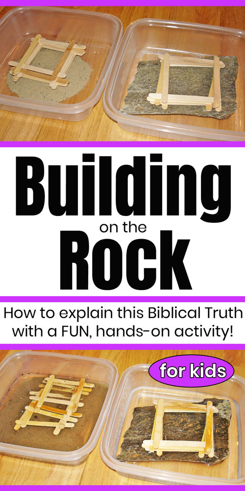 Building on the Rock Bible Activity
