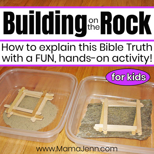 Building on the Rock [Bible Activity]