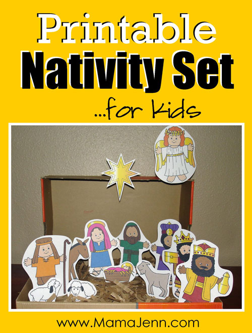 Printable Nativity Set for Kids