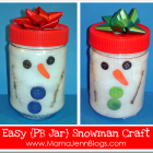 Snowman Craft {For Little Ones}