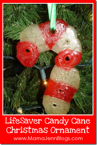 Life Saver Candy Cane CHRISTmas Ornament