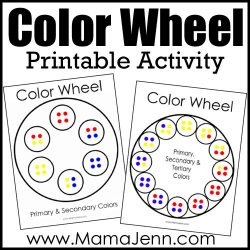 "color wheel printable templates with text overlay ""Color Wheel Printable Activity"""