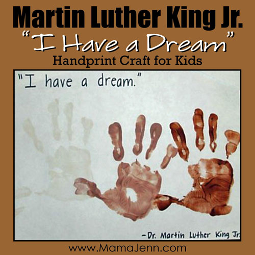 Martin Luther King Handprint Craft