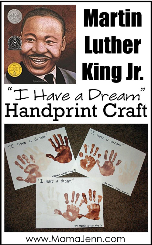 Martin Luther King Jr Handprint Craft