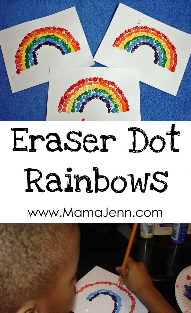 Eraser Dot Rainbows
