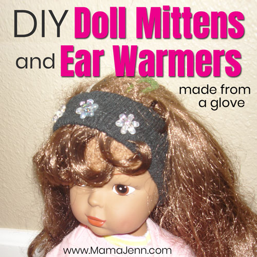 Easy *NO SEW* Doll Mittens & Ear Warmers