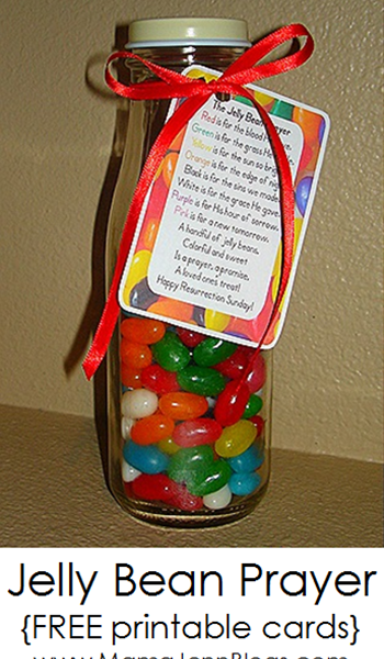 The Jelly Bean Prayer {FREE printable cards}