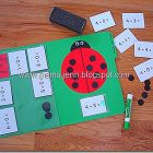 Ladybug Spot Addition File Folder Game