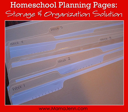 Homeschool Planning Pages Organization