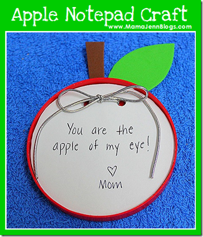 Apple Notepad Craft