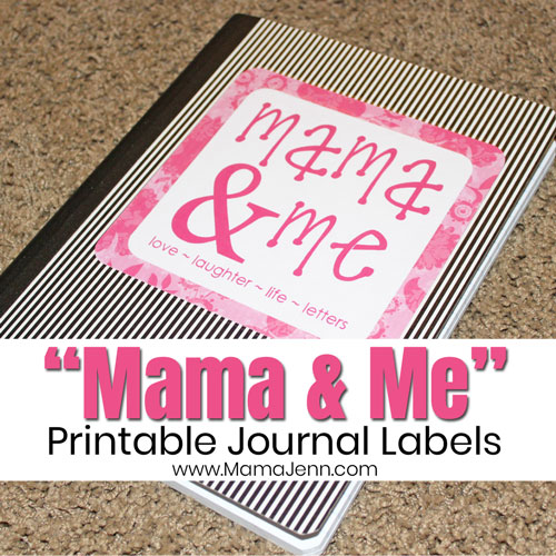 Mama and Me Journal Labels