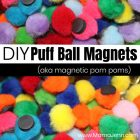 Puff Ball Magnets (Magnetic Pom Poms)