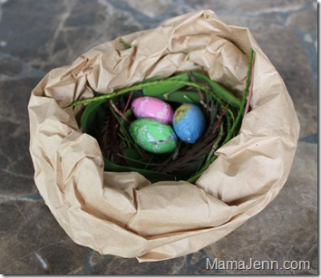 Brown Bag Bird Nest