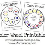 New Color Wheel Printables {including tertiary colors}
