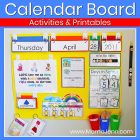 calendar board with text overlay Calendar Board Activities & Printables