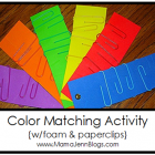 Color Matching {w/paper clips & foam}