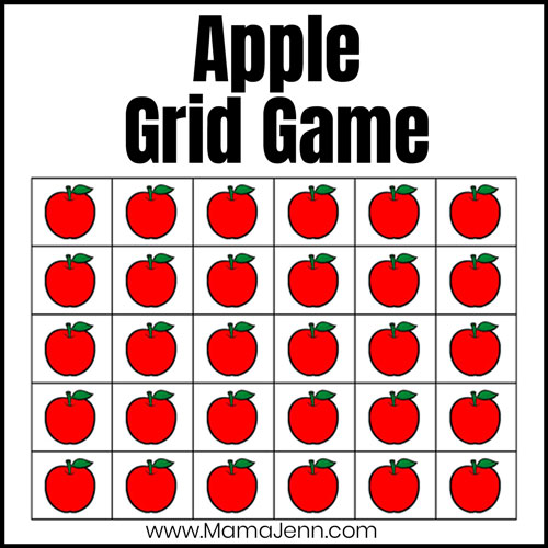 apple grid game