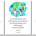 John 3:16 {printables & copywork pages}