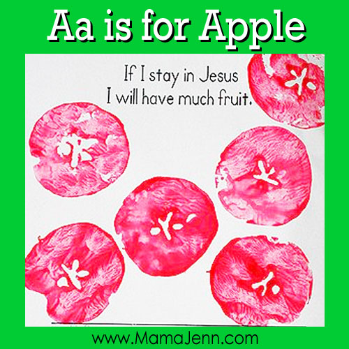 My Father's World Kindergarten Craft and Copywork Pages ~ Aa is for Apple