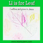 My Father's World Kindergarten Craft and Copywork Pages ~ Ll is for Leaf