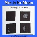 My Father's World Kindergarten Craft and Copywork Pages ~ Mm is for Moon