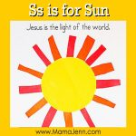 My Father's World Kindergarten Craft and Copywork Pages ~ Ss is for Sun