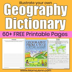 Printable Geography Dictionary