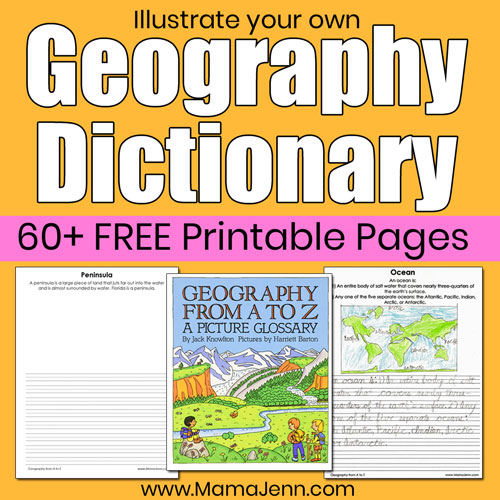 Illustrate a Geography Dictionary [FREE Printables]