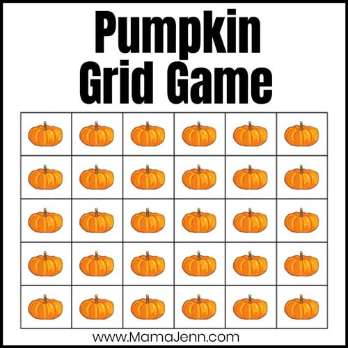 Pumpkin Math Grid Game
