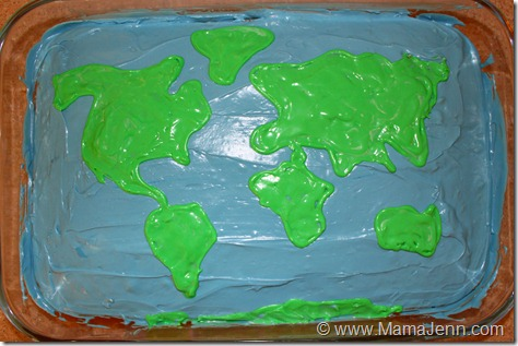 World Cake {Edible Continents & Oceans}