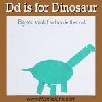 My Father's World Kindergarten Craft and Copywork Pages ~ Dd is for Dinosaur