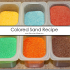 DIY Colored Sand {Tutorial}