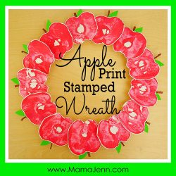 Stamped Apple Print Wreath