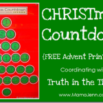 Advent: CHRISTmas Countdown {Free Printables}