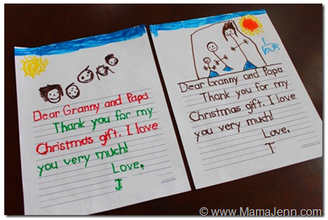 Christmas Thank You Letter for Little Ones (FREE Tracing Printable)