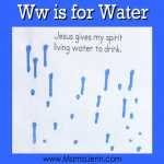 My Father's World Kindergarten Craft and Copywork Pages ~ Ww is for Water