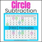 Circle Subtraction Math Game
