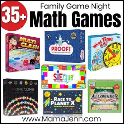 various math games with text overlay Math Games Family Game Night