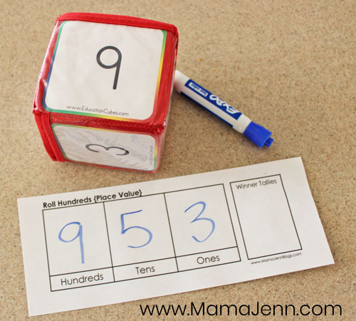 Roll Hundreds Place Value Math Game image 6