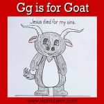 My Father's World Kindergarten Craft and Copywork Pages ~ Gg is for Goat