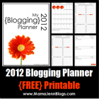 My 2012 Blogging Planner {FREE Printable}
