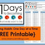 21 Days to Becoming {Habit Forming Printable}