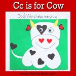 My Father's World Kindergarten Craft and Copywork Pages ~ Cc is for Cow