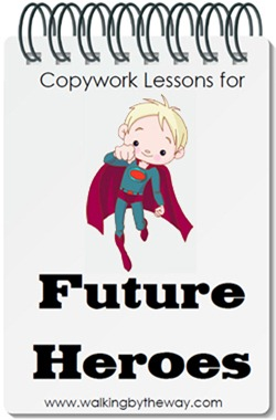 Copywork Lessons for Future Heroes {Review}