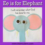 Ee for Elephant: MFW Kindergarten Printables