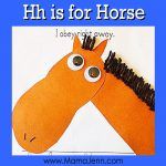 My Father's World Kindergarten Craft and Copywork Pages ~ Hh is for Horse
