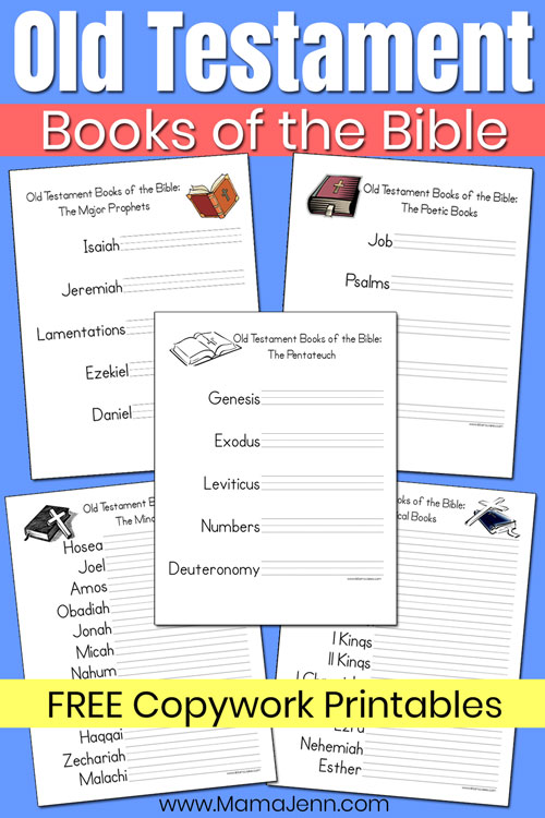 Old Testament Books of the Bible Copywork Printables