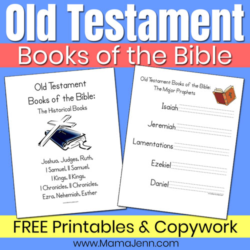 Old Testament Books of the Bible {FREE Printables}
